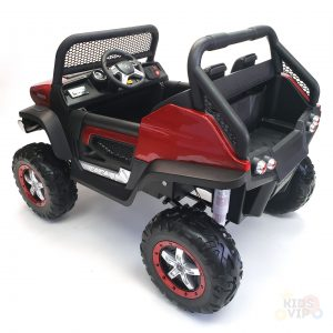 kidsvip mercedes unimog 24v ride on truck kids and toddlers red 18