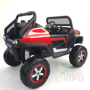 kidsvip mercedes unimog 24v ride on truck kids and toddlers red 2