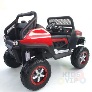 kidsvip mercedes unimog 24v ride on truck kids and toddlers red 25