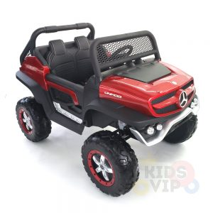 kidsvip mercedes unimog 24v ride on truck kids and toddlers red 28