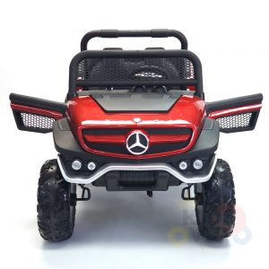 kidsvip mercedes unimog 24v ride on truck kids and toddlers red 32