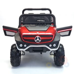 kidsvip mercedes unimog 24v ride on truck kids and toddlers red 9