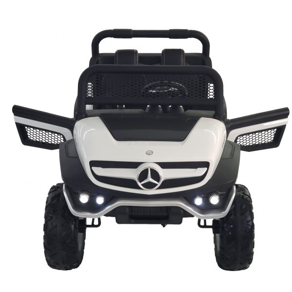 kidsvip mercedes unimog 24v ride on truck kids and toddlers white 17