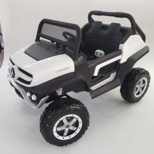 kidsvip mercedes unimog 24v ride on truck kids and toddlers white 3