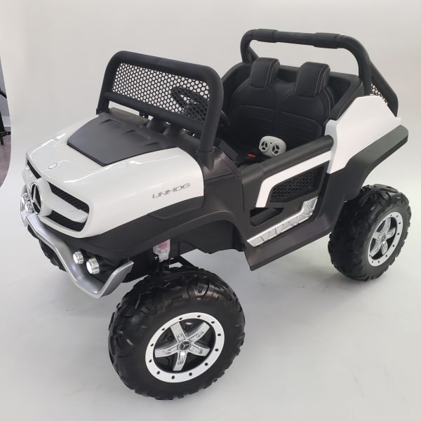 kidsvip mercedes unimog 24v ride on truck kids and toddlers white 3