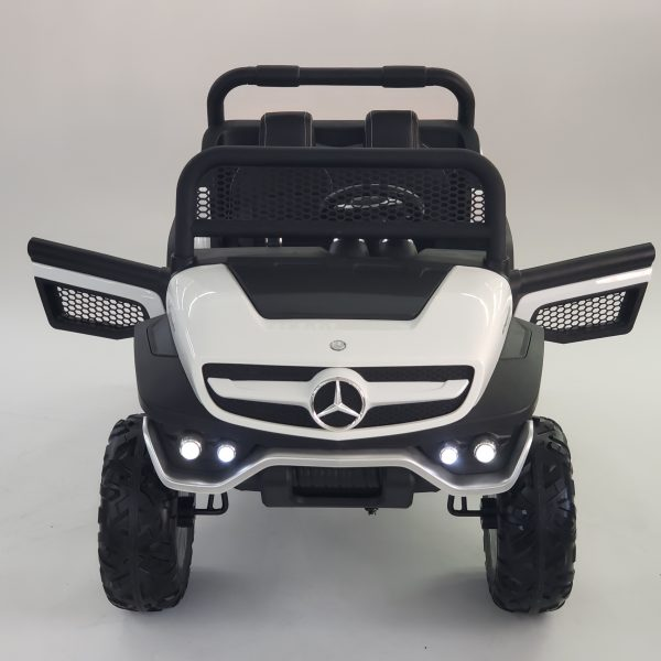 kidsvip mercedes unimog 24v ride on truck kids and toddlers white 46