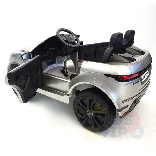 kidsvip range rover evoque 12v kids and toddlers ride on car painted silver 15
