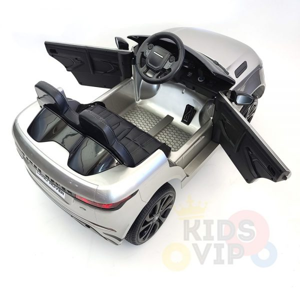 kidsvip range rover evoque 12v kids and toddlers ride on car painted silver 21