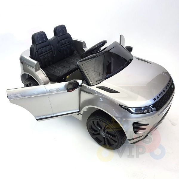 kidsvip range rover evoque 12v kids and toddlers ride on car painted silver 28
