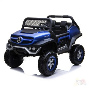 mercedes benz unimog ride on utv for kids leather seat rubber wheels 4 motors kidsvip 25