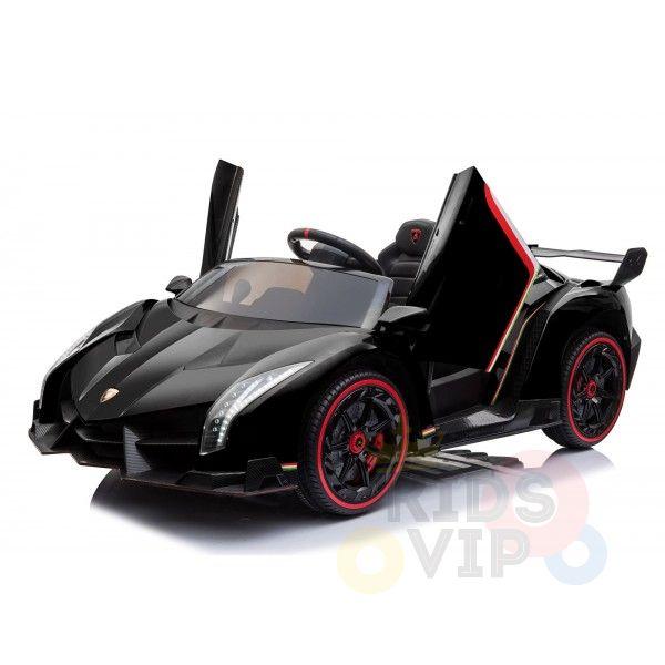 2 seats lamborghini ride on kids and toddlers ride on car 12v black 13