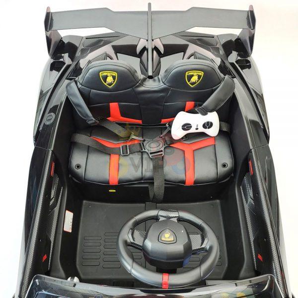 2 seats lamborghini ride on kids and toddlers ride on car 12v black 57