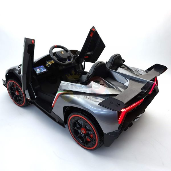 2 seats lamborghini ride on kids and toddlers ride on car 12v silver 18