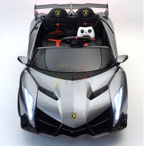 2 seats lamborghini ride on kids and toddlers ride on car 12v silver 2