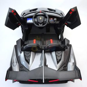 2 seats lamborghini ride on kids and toddlers ride on car 12v silver 20