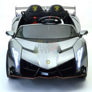 2 seats lamborghini ride on kids and toddlers ride on car 12v silver 4