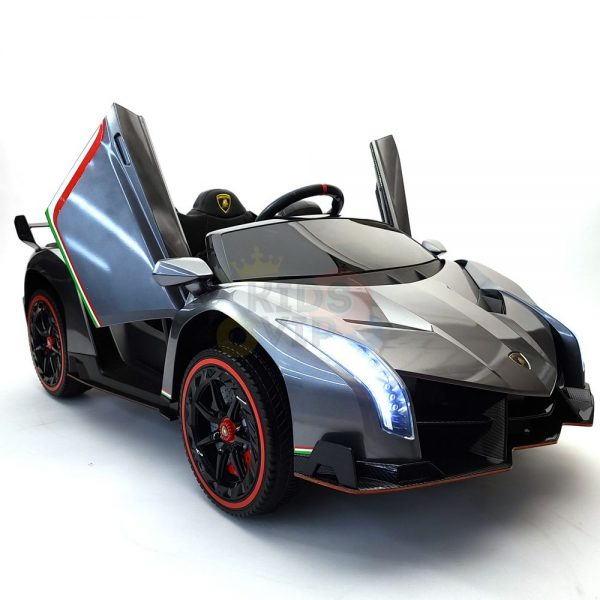 2 seats lamborghini ride on kids and toddlers ride on car 12v silver 47