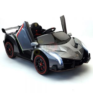 2 seats lamborghini ride on kids and toddlers ride on car 12v silver 50