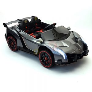 2 seats lamborghini ride on kids and toddlers ride on car 12v silver 51