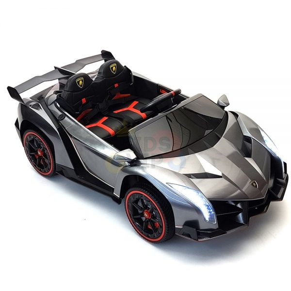 2 seats lamborghini ride on kids and toddlers ride on car 12v silver 53