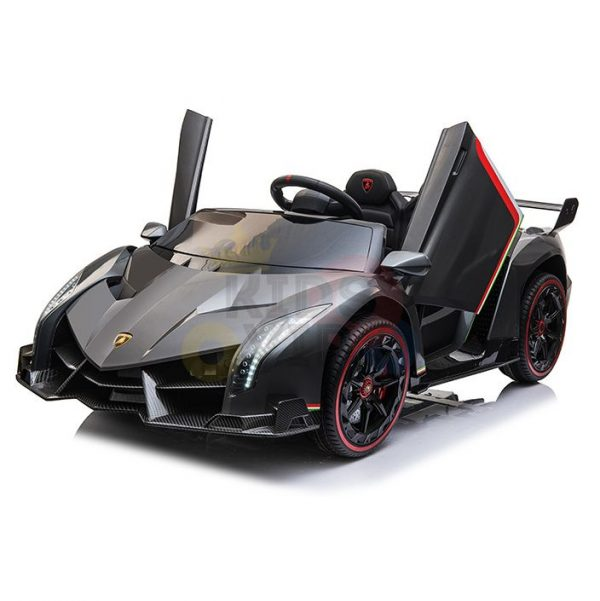2 seats lamborghini ride on kids and toddlers ride on car 12v silver 54