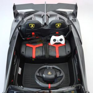 2 seats lamborghini ride on kids and toddlers ride on car 12v silver 6