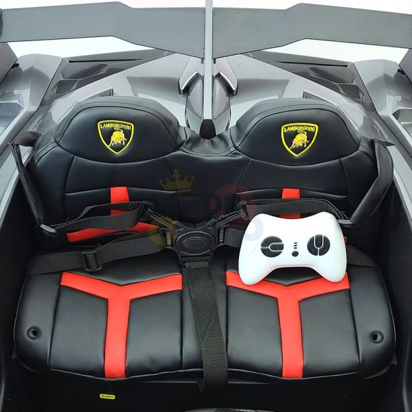 2 seats lamborghini ride on kids and toddlers ride on car 12v silver 7