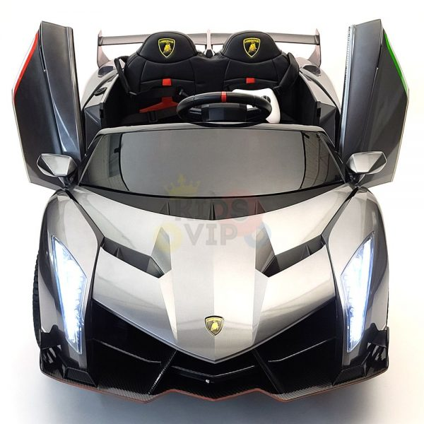 2 seats lamborghini ride on kids and toddlers ride on car 12v silver 8