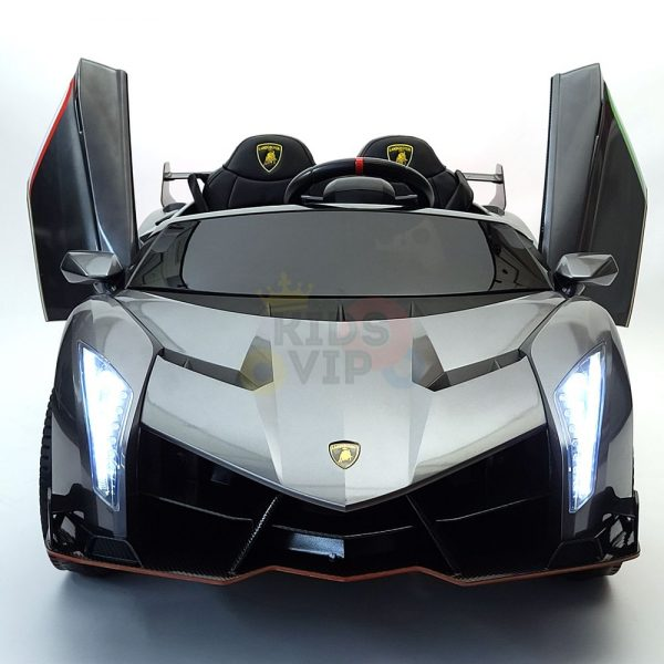 2 seats lamborghini ride on kids and toddlers ride on car 12v silver 9