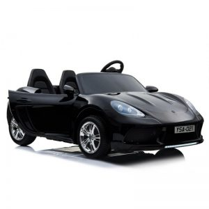 KIDSVIP XXL RIDE ON CAR FOR BIG KIDS 24V 180W RUBBER WHEELS LEATHER SEAT black 42