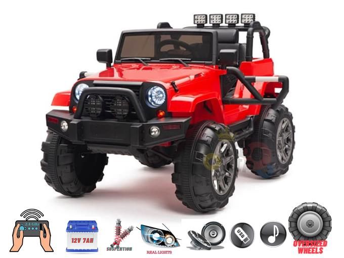 Sport Edition 12v Trailcat Big Wheels Kids Ride on Truck with RC
