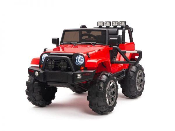 kidsvip big wheels 12v ride on truck jeep red 1