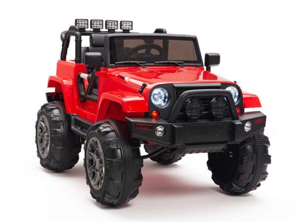 kidsvip big wheels 12v ride on truck jeep red 10