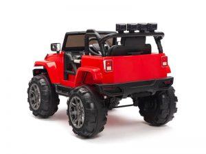 kidsvip big wheels 12v ride on truck jeep red 3