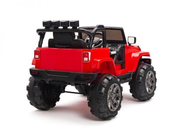 kidsvip big wheels 12v ride on truck jeep red 4