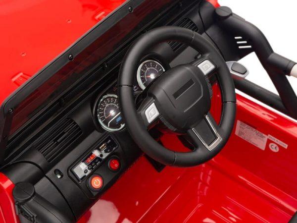 kidsvip big wheels 12v ride on truck jeep red 5