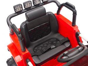 kidsvip big wheels 12v ride on truck jeep red 6
