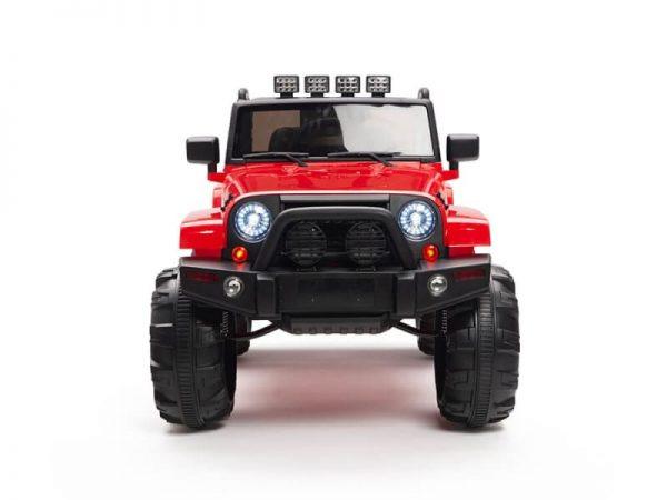 kidsvip big wheels 12v ride on truck jeep red 7