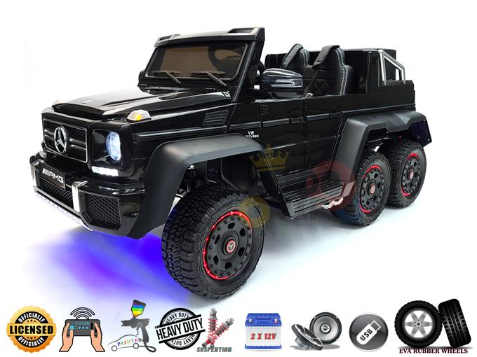 Big Official Limited Mercedes Benz G63 AMG 2X12V / 6 Motors / 6 Wheels Kids Ride on Car with RC