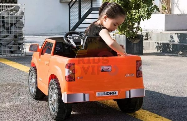 kids ride on car tundra 12 toyota 12v kidsvip orange KIDS 12