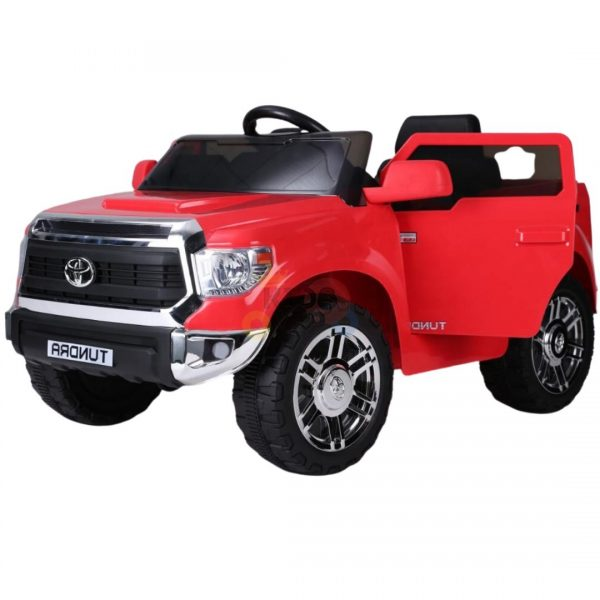 kids ride on car tundra 12 toyota 12v kidsvip red 1