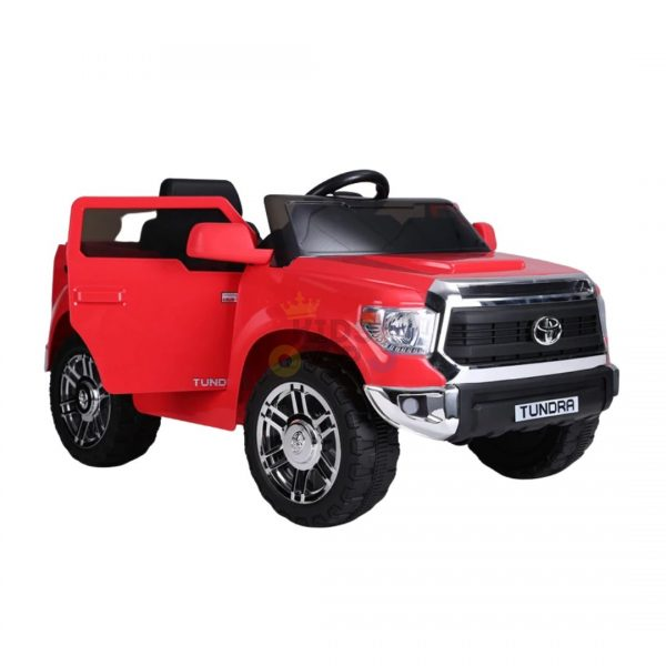 kids ride on car tundra 12 toyota 12v kidsvip red 3