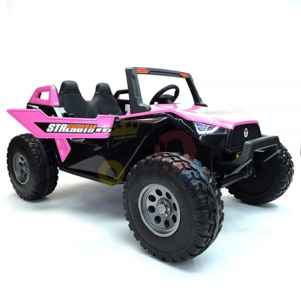 kids vip dune buggy challenger 24v sx1928 ride on kids 2 seater mp4 rubber wheels PINK 12