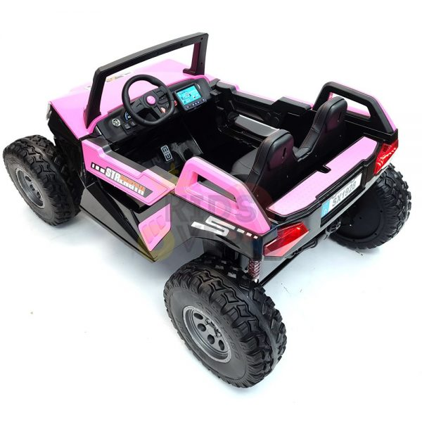 kids vip dune buggy challenger 24v sx1928 ride on kids 2 seater mp4 rubber wheels PINK 13