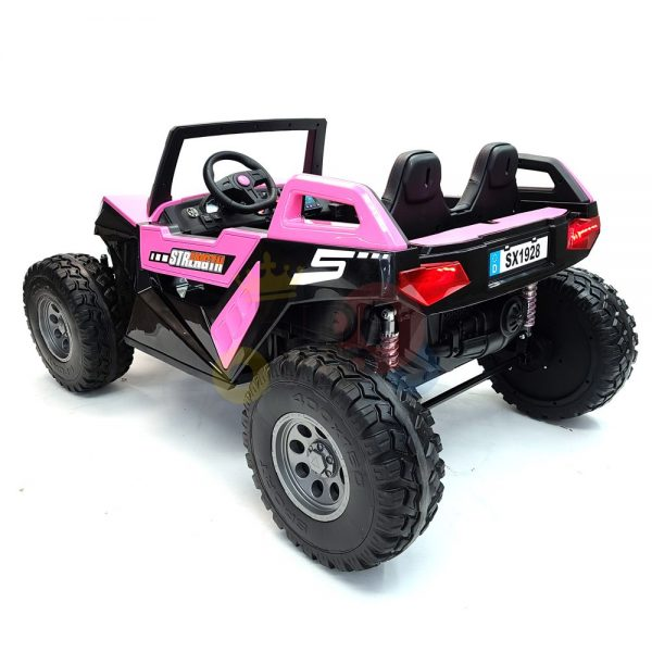 kids vip dune buggy challenger 24v sx1928 ride on kids 2 seater mp4 rubber wheels PINK 14