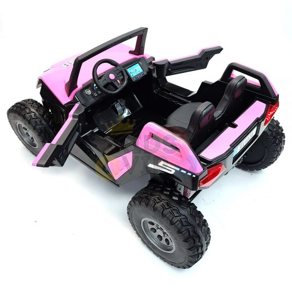 kids vip dune buggy challenger 24v sx1928 ride on kids 2 seater mp4 rubber wheels PINK 15