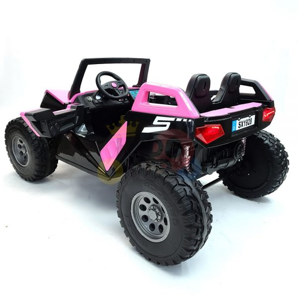 kids vip dune buggy challenger 24v sx1928 ride on kids 2 seater mp4 rubber wheels PINK 17