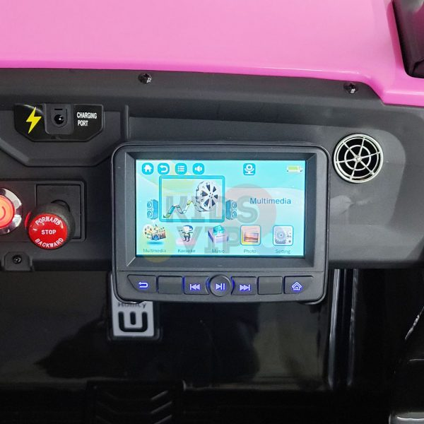 kids vip dune buggy challenger 24v sx1928 ride on kids 2 seater mp4 rubber wheels PINK 22