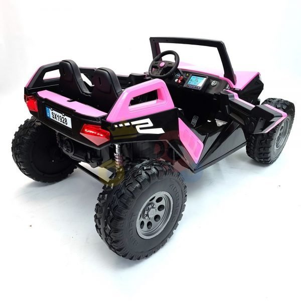 kids vip dune buggy challenger 24v sx1928 ride on kids 2 seater mp4 rubber wheels PINK 24