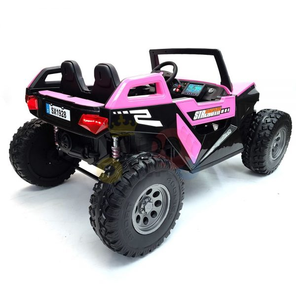 kids vip dune buggy challenger 24v sx1928 ride on kids 2 seater mp4 rubber wheels PINK 28